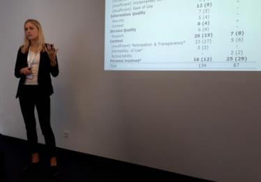 Sarah Meeßen is presenting the first results